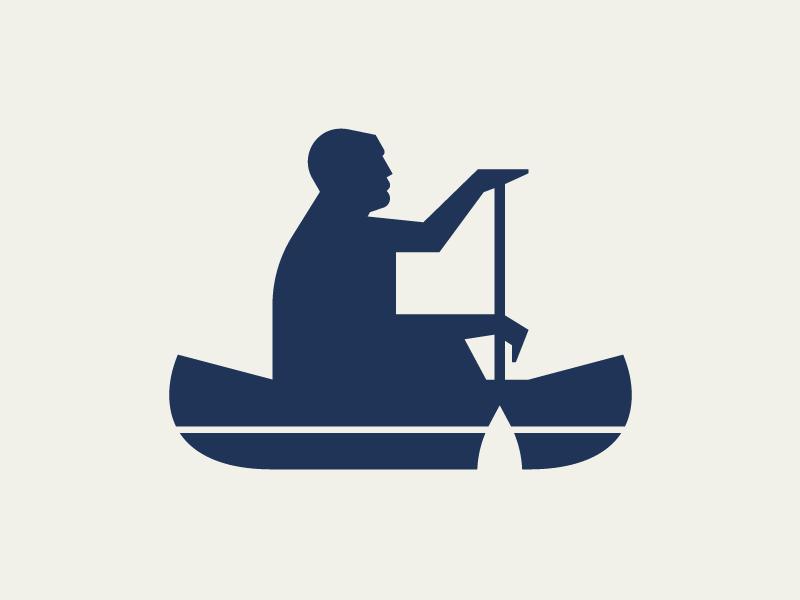 Mini Canoe illustration logo wilderness outdoors canoe mini