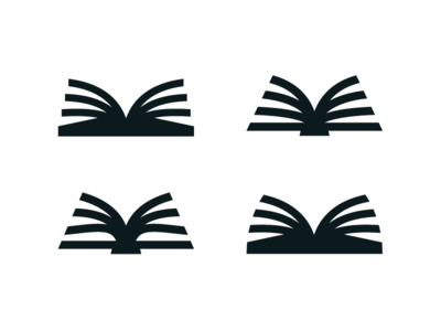 Books icon community library logo spine binding pages reading book