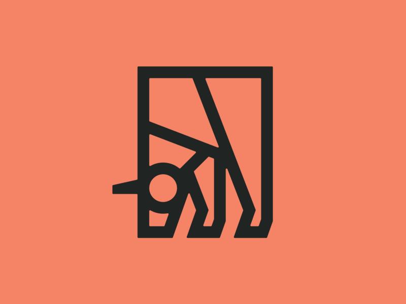 Unicorn icon illustration myth animal horn shape line geometric unicorn