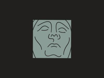 Face illustration portrait line emotion face