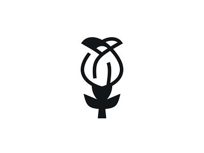 Rose branding icon illustration geometry shape line flower rose