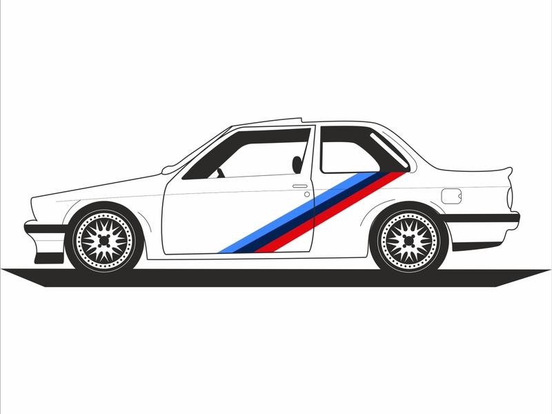 BMW car adobe photoshop adobeilustrator vector drawing design coreldraw artwork digitalart engine motor power sportcar