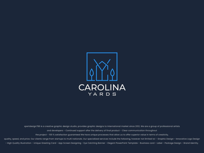 Carolina Yards Logo Designed by Xxpert Design Studio brand guide branding illustrator photoshop vintage flat minimal logo graphic designing