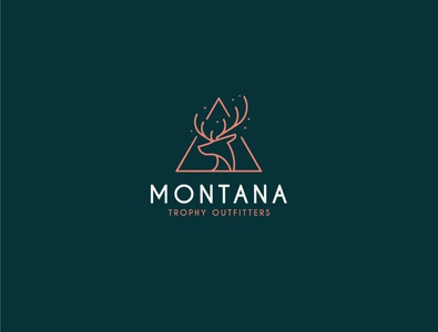 Montana trophy outfitter branding vintage logo logo design unique logo design graphic adobe photoshop adobe illustrator illustration