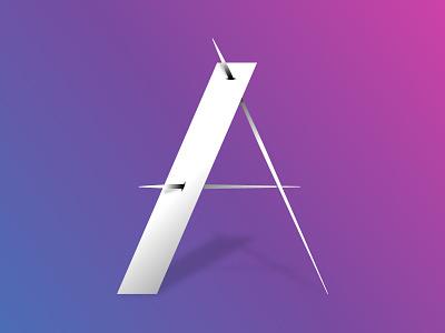 A a lettering alphabets geometric 3d lettering