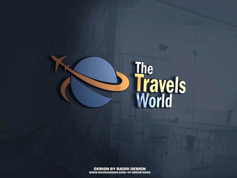 The Travels World Logo Design. logo advertising photoshop marketing graphicdesign minimal vector design branding illustration