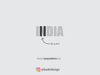 World Population Day logo typography marketing graphicdesign advertising vector minimal illustration design branding