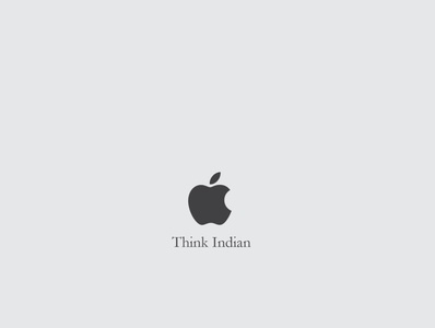 Think Indian marketing photoshop apple graphicdesign advertising vector minimal illustration design branding