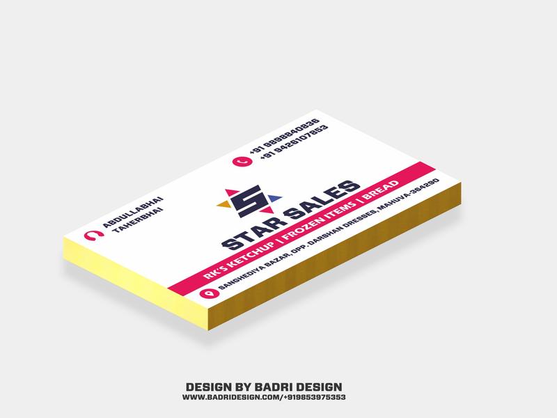 Star sales business card design advertising marketing graphicdesign design branding visitingcard visual design printing business card design businesscard