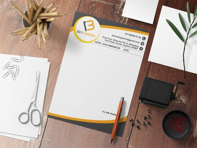 BM Letterhead Design illustration marketing graphicdesign advertising branding design letterheads letterhead