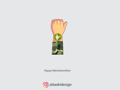 Happy Rakshabandhan 2020 advertising minimal india army illustration graphicdesign design branding indian