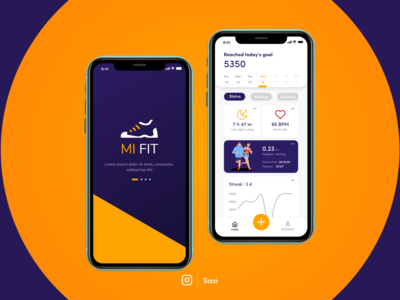 Mi Fit vector ux ui typography logo illustration icon design branding app