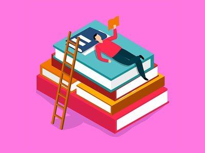 Flat Illustration Education Concept study internet business online banner learning background technology icon knowledge university web book concept school design vector illustration flat education