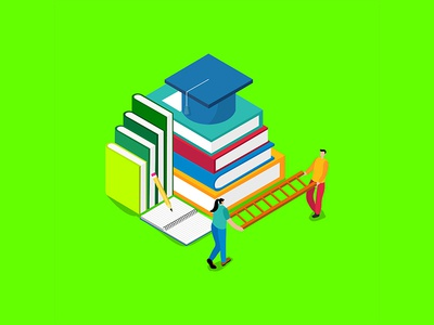 Flat Illustration Education Concept app learning online banner business university icon web internet design technology people concept school vector book illustration flat knowledge education