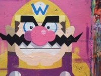 Wario Mural