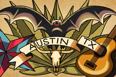 Austin, TX Postcard gowalla postcard austin tx alan defibaugh