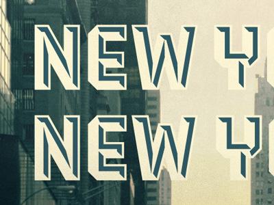 New York, NY Gowalla City Guide Postcard new york alan defibaugh vector photoshop