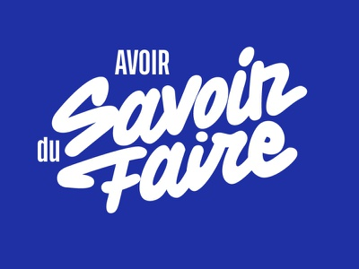 Savoir Faire custom lettering logo designer logo hand lettering lettering graphiste webdesigner