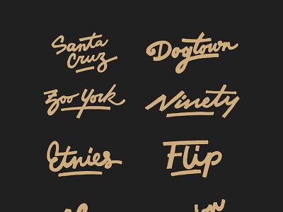 Skate brands series lettering logo logodesign logo typography custom lettering hand lettering lettering