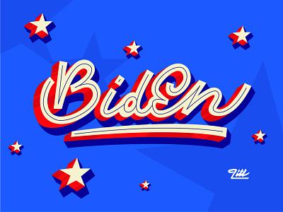 Biden President ! graphic designer graphiste typography letters biden custom lettering hand lettering lettering