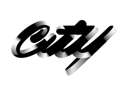 City ( but I live in the country) custom logotype logo typography custom lettering hand lettering lettering directeur artistique webdesigner graphiste