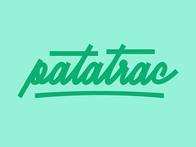 Patatrac ! hand lettering custom lettering custom type lettering logo webdesigner graphiste typography