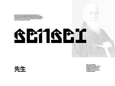 Sensei Custom Logotype. minimal grid layout typography logo typography custom typography custom logo custom type