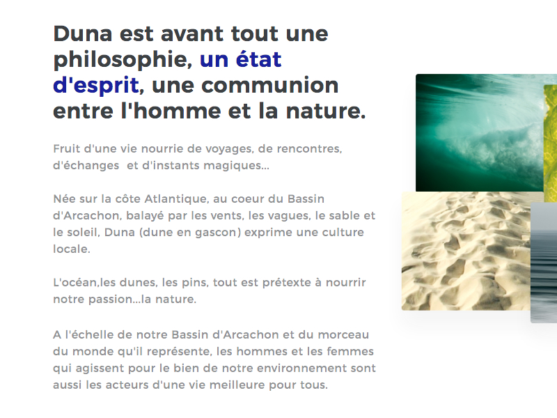 L'Esprit Duna ui design flexbox layout graphic design webdesign
