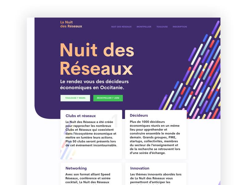 Nuit des Réseaux uidesign webdesign networking network décideurs french tech occitanie nuit des réseaux