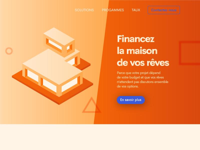 Hero section header ui design webdesign user interface design graphiste webdesigner ui designer