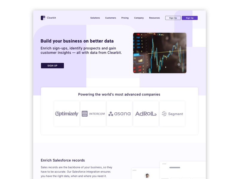Clearbit Redesign redesign graphic designer graphiste webdesigner webdesign user interface design user interface