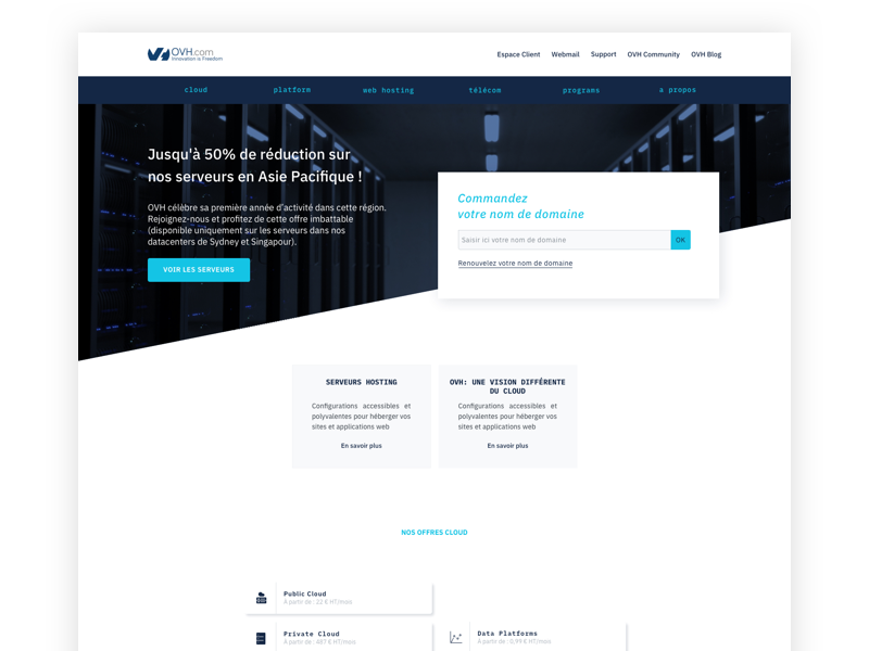 OVH redesign (wip) ovh redesign ovh responsive design responsive ui designer ui design webdesigner webdesign redesign
