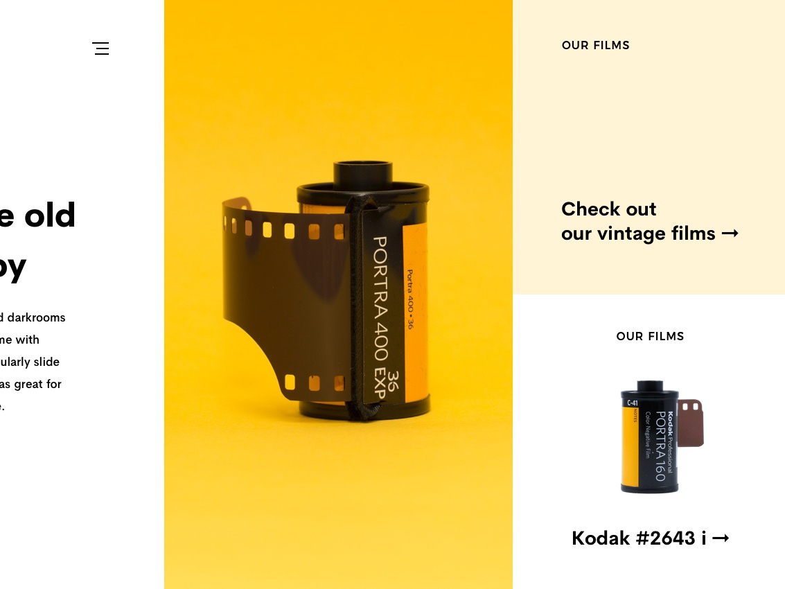 Kodak for @AtelierGringo user interface design ui design webdesigner webdesign ui layout