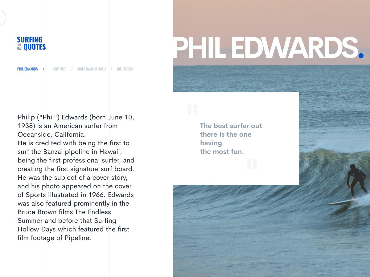 Surfing quotes da direction artistique graphiste typography layout webdesigner webdesign uidesigner uidesign