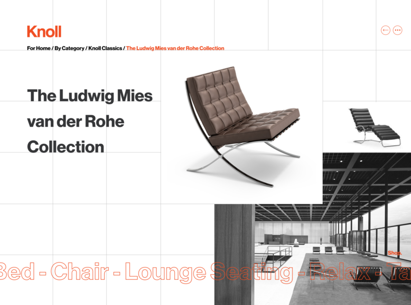 The Ludwig Mies van der Rohe Collection figmadesign figma webdesigner graphiste user interface designer user interface design user inteface ui designer ui design ui grid grid design grid layout swiss design