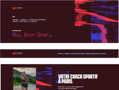 WIP: Personal coach website
