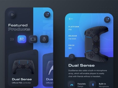 PlayStation console App UI app design ui
