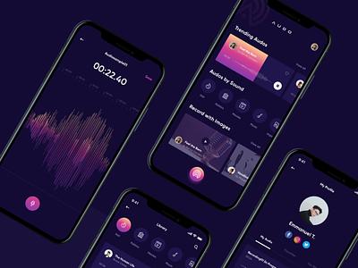 Dark mode ui design app