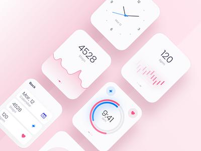 watch desing ux illustration ui design app