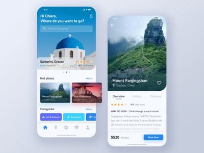 Travell app desing ux illustration app ui design