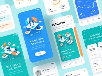 LESSON APP ux illustration ui app design