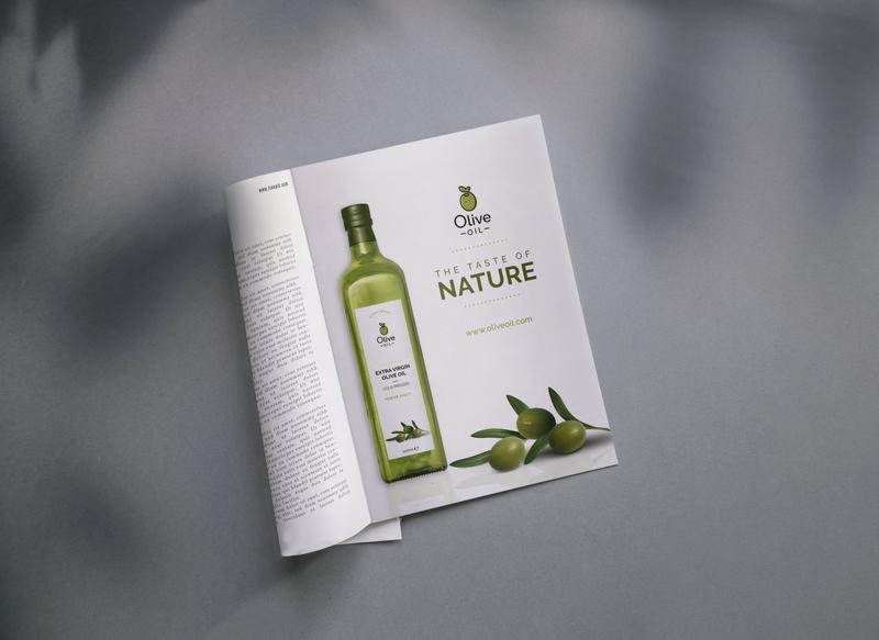 Print Media Ad for Olive Oil campaign magazine magazine ad olive oil logo designer advertisement design ad design advertising print media branding design branding graphic designer graphic design