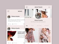 Fashion app user interface