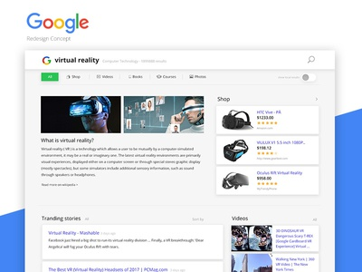 Google Search redesign concept
