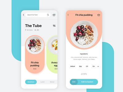 Restaurant Delivery App ux navigation bar resturant food delivery mobile app minimal ui design clean creative modern
