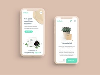 Mobile first design for subscription supplements
