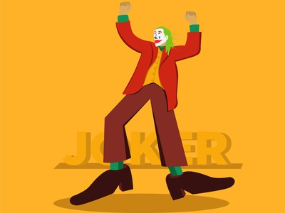 joker graphic design art website minimal branding marketing 2d flat illustration flat illustration dribble behance design vector illustrator joker