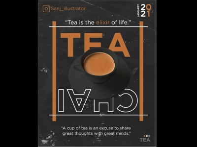Tea app marketing branding graphicdesign graphic template typography web ui dribble behance design illustraion banner socialmedia social posters poster design poster tea