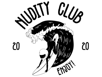 NUDITY CLUB club nudity artwork biker artworks vector illustration black  white branding brand design design illustrator