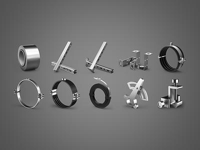 Full Metal Jacket metal cog tape steel polished illustration gear spin technical